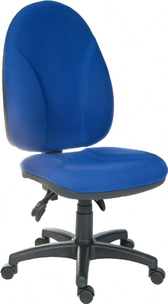 TEKNIK COMMANDER Blue Office Chair With No Arms